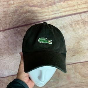 Lacoste hat one size adjustable unisex brown